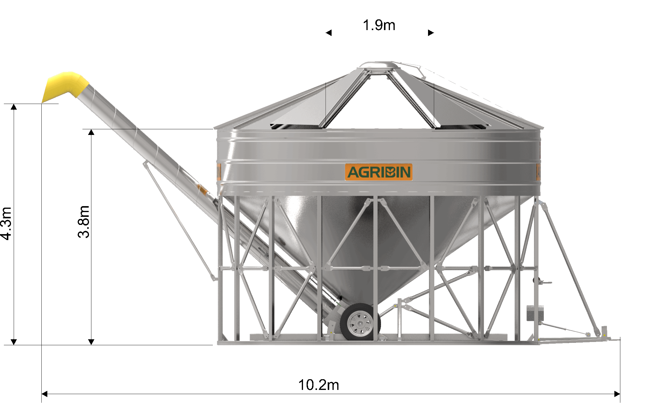 Agribin Fertiliser Storage Bin