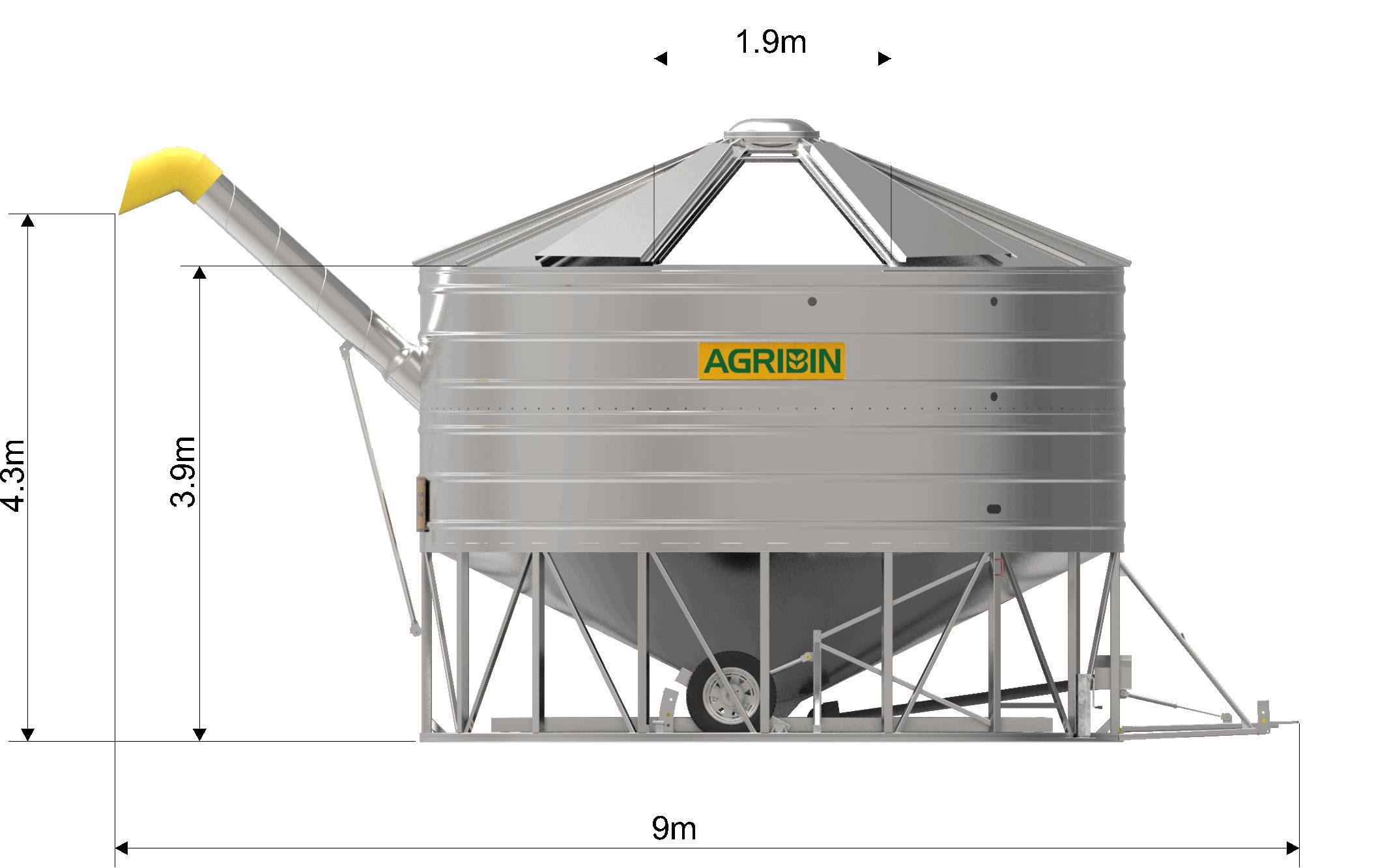 Agrinbin Road-train Bin side view