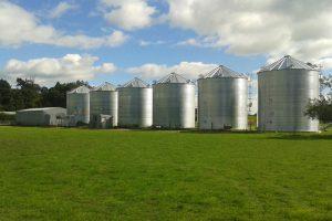Row Agribin Grain Silos